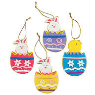 Claydough Easter Ornaments, Set of 12 by Holiday Peak™