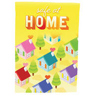 Safe at Home Garden Flag