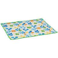 Floral Design Dish Drying Mat