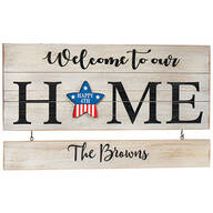 "Personalized ""Welcome to our Home"" Holiday Plaque"