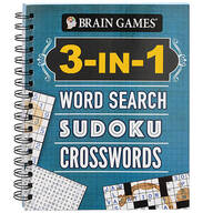 Brain Games® 3-in-1 Word Search, Sudoku, Crosswords Book