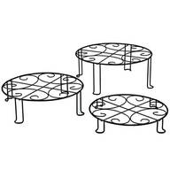 Metal Plant Stands, Set of 3