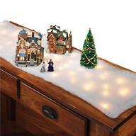 Lighted Snow Table Runner, Set of 2