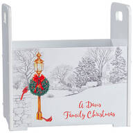 Personalized Christmas Town Tall Caddy