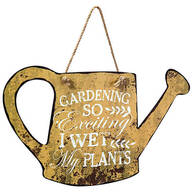 """Metal """"I Wet My Plants"""" Watering Can by Fox River™ Creations"""