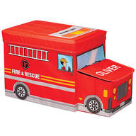 Personalized Fire Truck Storage Box