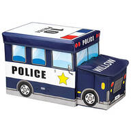 Personalized Police Car Storage Box