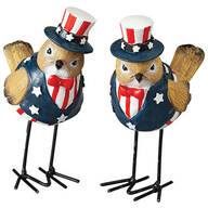 Patriotic Bird Figurines by Holiday Peak™, Set of 2