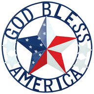 "Metal ""God Bless America"" Wall Hanging by Fox River™ Creations"