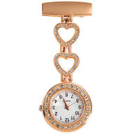 Rhinestone Brooch Hanging Watch
