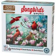 Songbirds Cardinal Family Puzzle, 550 Pieces
