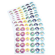 Personalized Children's Unicorn Stickers, Set of 240