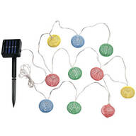 Solar Spiral String Lights