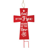 Land of the Free Metal Cross Stake by Fox River™ Creations
