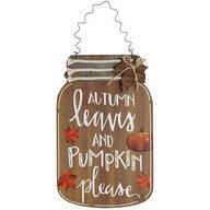 Autumn Leaves Mason Jar Wall Hanging by Holiday Peak™