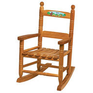 Personalized Woodland Animals Children's Rocking Chair