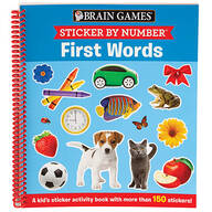Brain Games® Sticker By Number ™ First Words