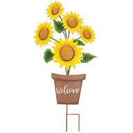Metal Sunflowers Welcome Stake by Fox River™ Creations