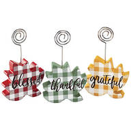 Fall Leaf Picture Clips by Holiday Peak™, Set of 3