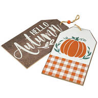 Hello Autumn Double-Sided Wall Tags by Holiday Peak™