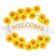 Metal Sunflower Welcome Wreath by Fox River™ Creations
