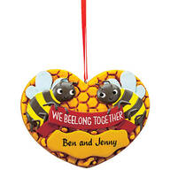 Personalized We Beelong Together Ornament