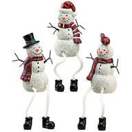 Resin Snowman Shelf Sitters by Holiday Peak™, Set of 3