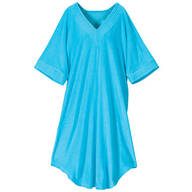 V-Neck Turquoise Terry Caftan by Sawyer Creek™