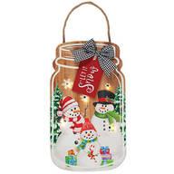 Lighted Let it Snow Mason Jar Hangin by Holiday Peak™