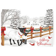 Merry Greetings Christmas Card Set of 20