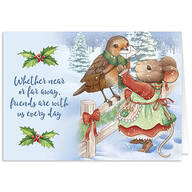 Charming Friends Christmas Card Set of 20
