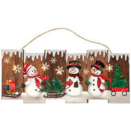 Lighted Snowman Wall Hanging by Holiday Peak™