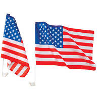 Auto American Flags, Set of 2