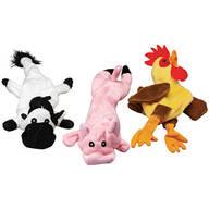 Stuffing Free Farm Animal Dog Toys, Set of 3