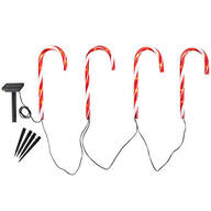 Solar Candy Cane Lights by Fox River™ Creations, Set of 4