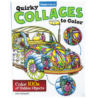 Quirky Collages to Color Book