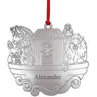 Personalized Silver-Tone Noah's Ark Ornament