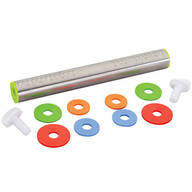 Stainless Steel Adjustable Rolling Pin with Rings