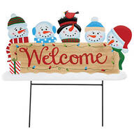 Welcome Snowman Metal Yard Stake by Fox River™ Creations