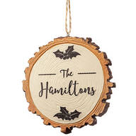 Personalized Christmas Resin Wood Slice Ornament