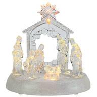 Musical LED Color Change Nativity Scene