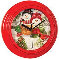 "9"" Snowman Couple Musical Clock"