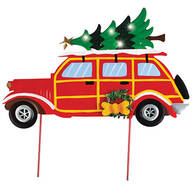 Vintage Christmas Car Solar Stake by Fox River™ Creations