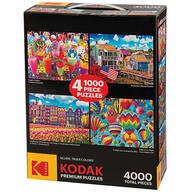 Kodak 4-in-1 Puzzle Pack, 4,000 Pieces