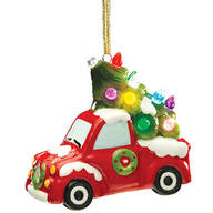 Lighted Red Truck Ornament by Holiday Peak™