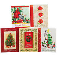 Christmas Variety Pack Cards, Set of 20 Traditional