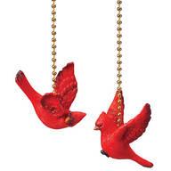 Cardinal Fan Pulls, Set of 2