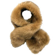 Faux Fur Stole Pull-Through Scarf