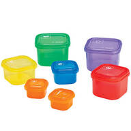 Colorful Nutritional Portion Containers, Set of 7