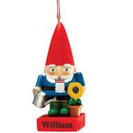 Personalized Garden Gnome Nutcracker Ornament